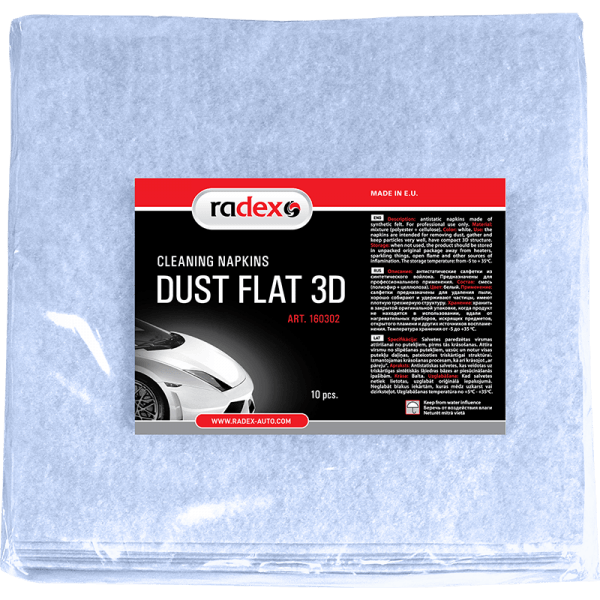 DUST FLAT 3D DUST REMOVING ADHESIVE NAPKINS FROM 3D SYNTHETIC FELT