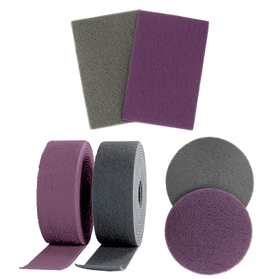 SOFTMATT NONWOVEN ABRASIVES IN SHEETS AND DISCS