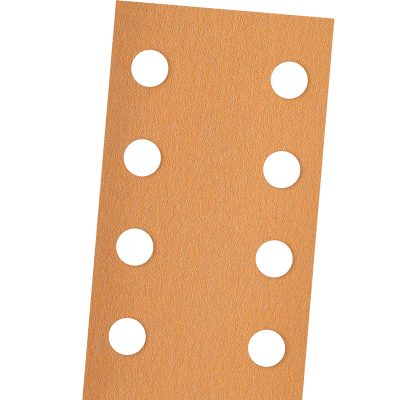 GOLD ABRASIVE PAPER SHEETS WITH VELCRO AND HOLES
