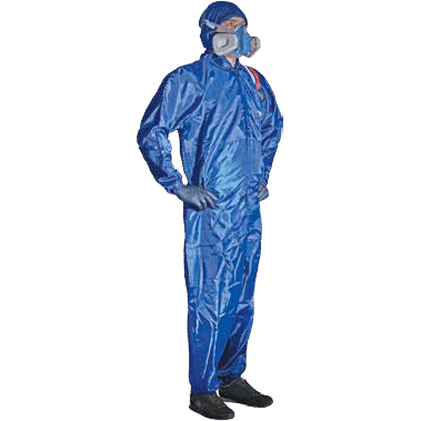 BLUE POLYESTER OVERALLS